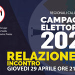 [RELAZIONE] – Evento del 29/4 Campagna Elettorale Regionali Calabria 2021